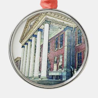 Western Michigan University Historic East Hall Metal Ornament