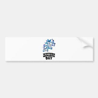 Western Monarch Day - Appreciation Day Bumper Sticker