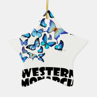 Western Monarch Day - Appreciation Day Ceramic Star Decoration