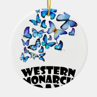 Western Monarch Day - Appreciation Day Round Ceramic Decoration