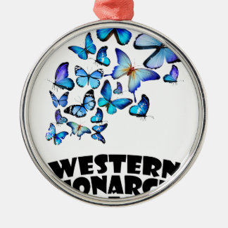 Western Monarch Day - Appreciation Day Silver-Colored Round Decoration
