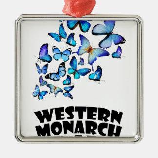 Western Monarch Day - Appreciation Day Silver-Colored Square Decoration