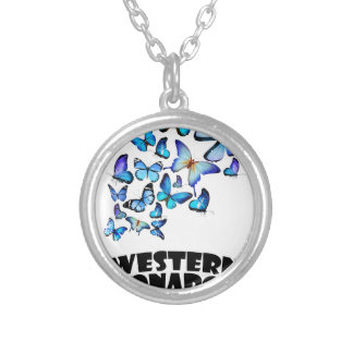 Western Monarch Day - Appreciation Day Silver Plated Necklace