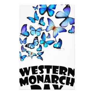 Western Monarch Day - Appreciation Day Stationery