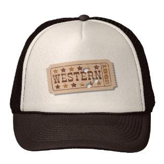 Western Movie Ticket Hat