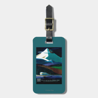 Western Pacific California Zephyr Vintage Poster Luggage Tag