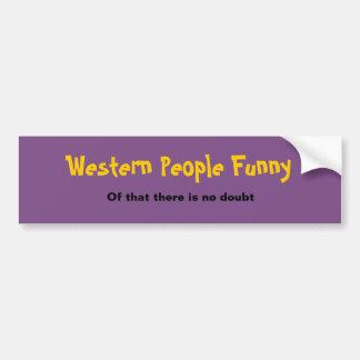 Western People Funny Sticker