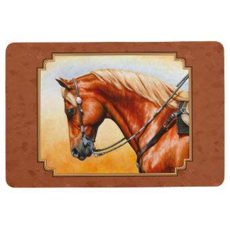 Western Quarter Horse Rustic Brown Floor Mat
