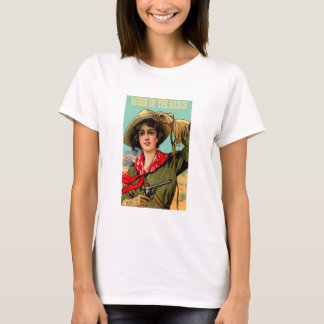 """Western """"Queen of The Ranch"""" Ladies T Shirt"""