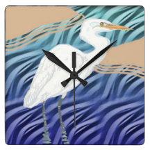 Western Reef Heron Wallclock