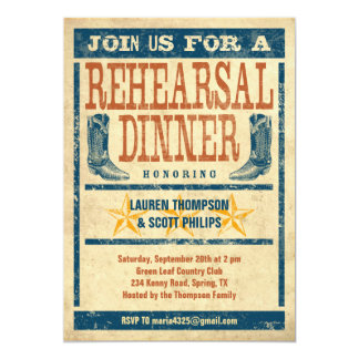 Western Rehearsal Dinner Invitations