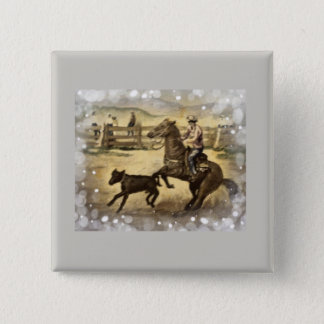 Western Ride 15 Cm Square Badge