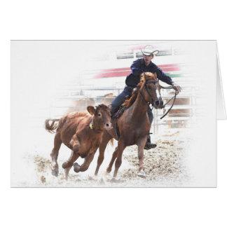 Western riding birthday card