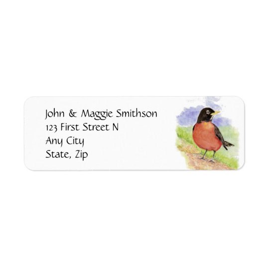 Western Robin Garden Bird, Address Label