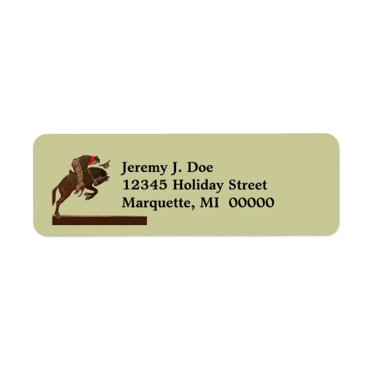 Western Rodeo Bronc Cowboy Return address Labels