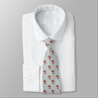 Western Rodeo Clown In Barrel and Bull Small Print Tie