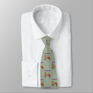 Western Rodeo Cowboy Bull Rider And Rodeo Clown Tie