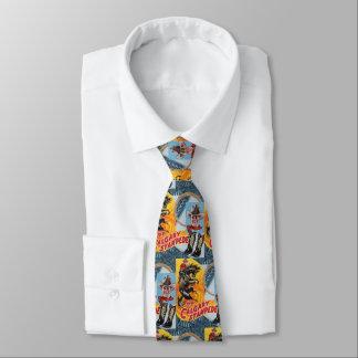 Western Rodeo Cowboy Collage Print Necktie