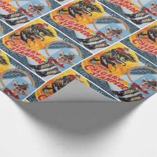 Western Rodeo Cowboy Collage Print Wrapping Paper