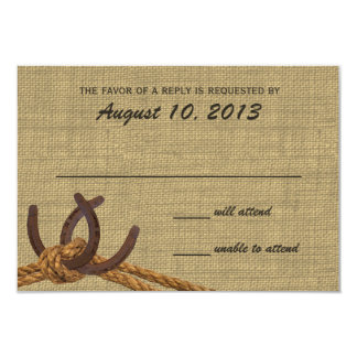 Western Rope and Horse Shoes Response 9 Cm X 13 Cm Invitation Card