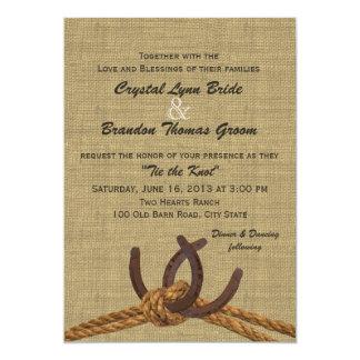 Western Rope and Horseshoes Wedding 13 Cm X 18 Cm Invitation Card