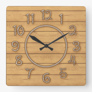 Western Rope Time Square Wall Clock