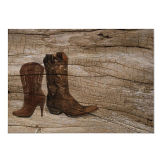western  rustic cowboy country bridal shower card