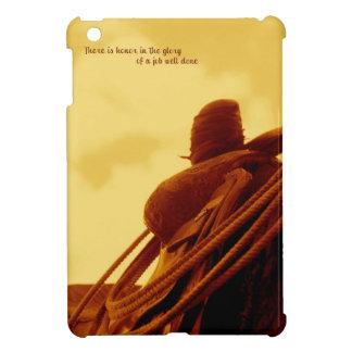 Western rustic roping saddle art iPad mini cover