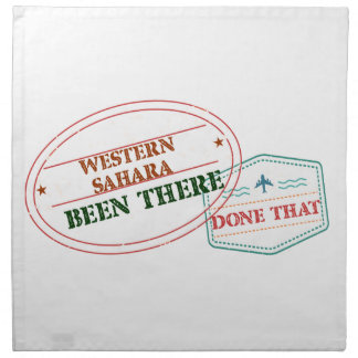 Western Sahara Been There Done That Napkin
