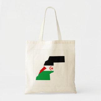 western sahara country flag map shape symbol budget tote bag
