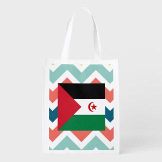 Western Sahara Flag Box on Colorful Chevron