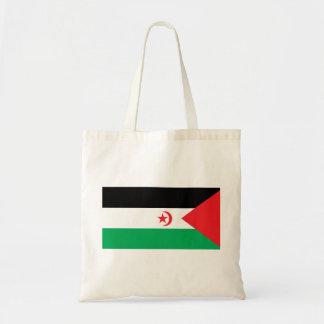 Western Sahara Flag Canvas Bags