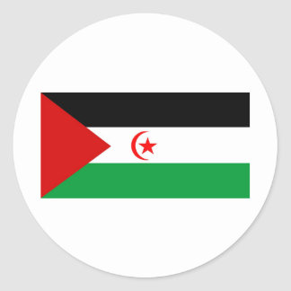 Western Sahara flag Classic Round Sticker