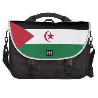 Western Sahara Flag Laptop Commuter Bag