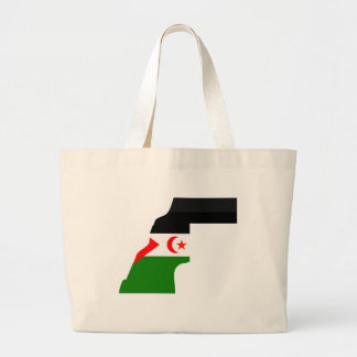 Western Sahara flag map Bag