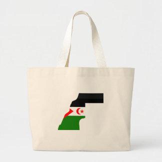Western Sahara Flag Map full size Canvas Bag