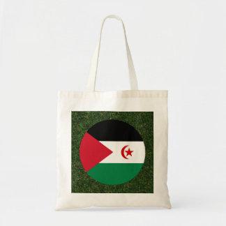 Western Sahara Flag on Grass Budget Tote Bag