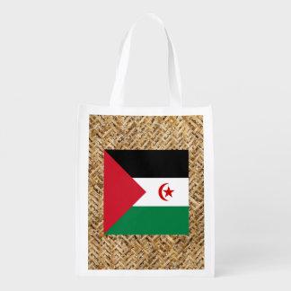 Western Sahara Flag on Textile themed
