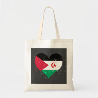 Western Sahara Flag Shining Beautiful Budget Tote Bag