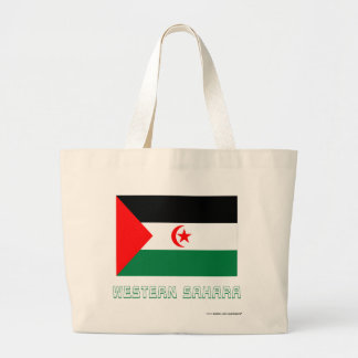 Western Sahara Flag with Name Tote Bag