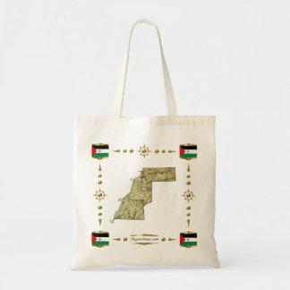 Western Sahara Map + Flags Bag