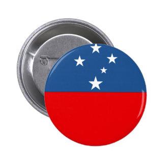 Western Samoa Flag 6 Cm Round Badge