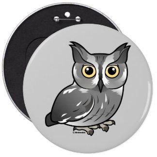 Western Screech Owl Pinback Button