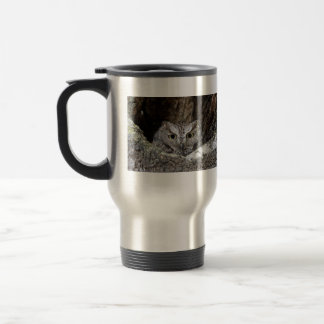 Western Screech Owl Stainless Steel Travel Mug
