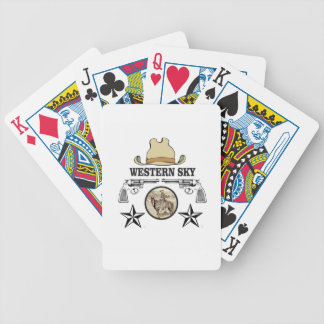 western sky cowboy art bicycle playing cards
