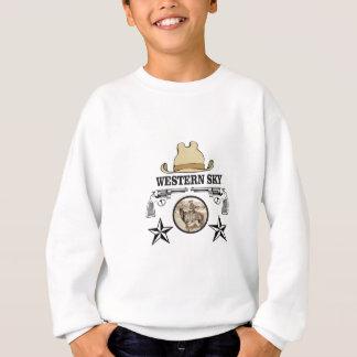 western sky cowboy art sweatshirt