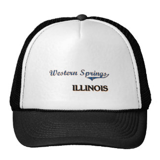 Western Springs Illinois City Classic Mesh Hat