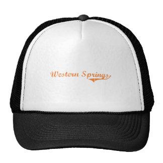 Western Springs Illinois Classic Design Hats