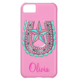 Western Star & Horseshoe Bling iPhone case