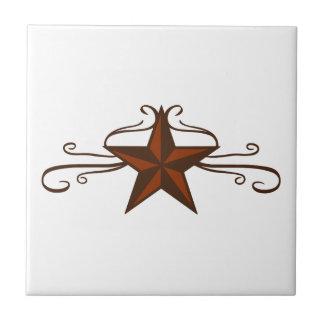WESTERN STAR SCROLL TILE